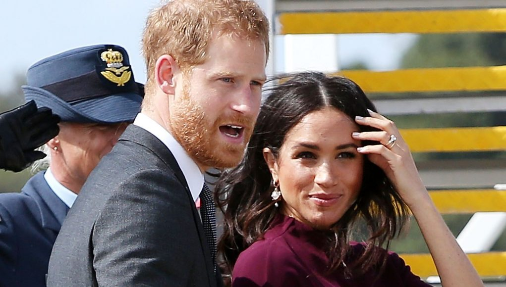 Meghan and Harry Are All Smiles as They Step Off a Commercial Flight