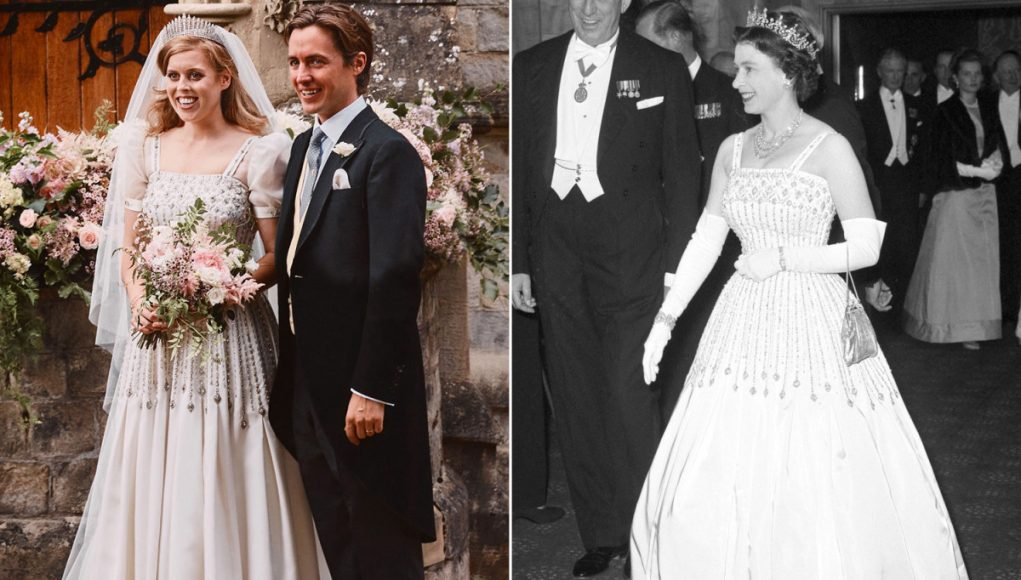 Princess Beatrice wore Queen Elizabeth's dress and tiara for private wedding