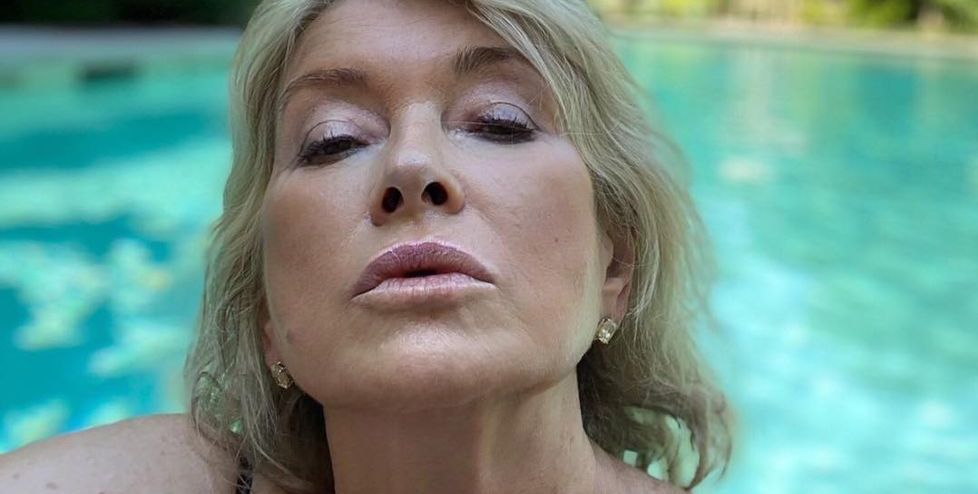 Martha Stewart Posted a Selfie From Her Pool and People Are Losing Their Minds Over It