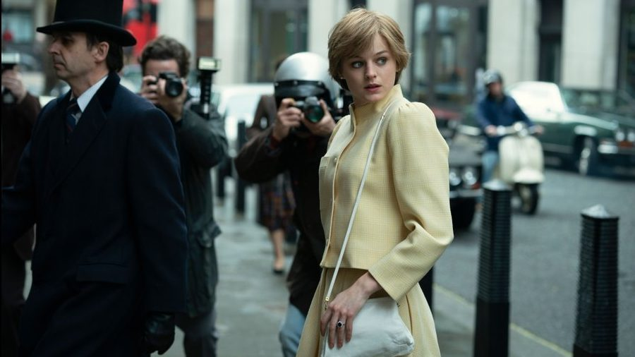 'The Crown': Netflix Reveals First Look At Gillian Anderson As Margaret Thatcher & Emma Corrin's Princess Diana