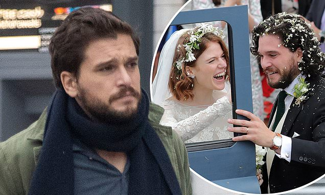 Father-to-be Kit Harington is seen for the first time since wife Rose Leslie's pregnancy reveal