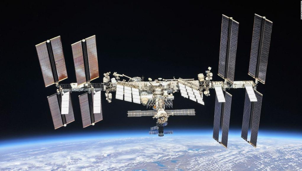 Astronauts home in on International Space Station air leak