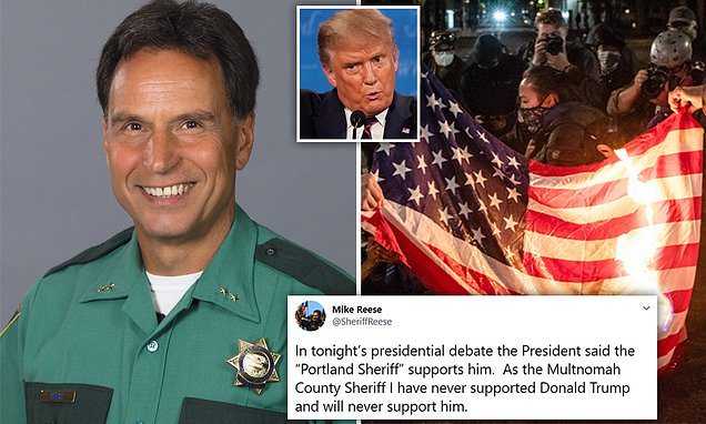 Portland sheriff rejects Donald Trump's claim of support